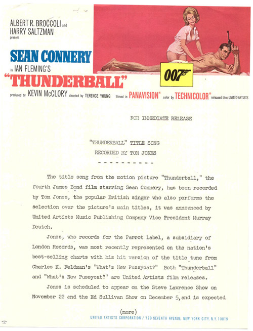 thunderball obsessional: james bond and his thunderbirds!